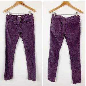 Free People Purple Plum Skinny Corduroy Pants